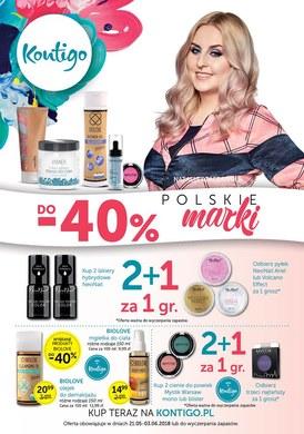 Gazetka promocyjna Kontigo - -40% polskie marki