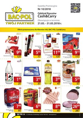 Gazetka promocyjna Bać-Pol S.A. - Oferta handlowa - Rzeszów