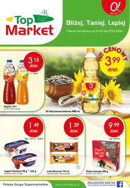 Gazetka promocyjna Top Market, ważna od 21.05.2018 do 27.05.2018.