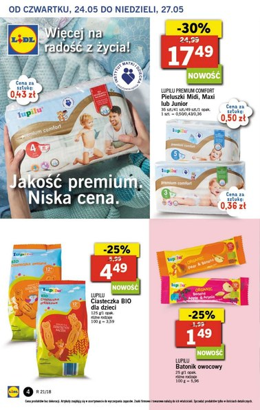 Gazetka promocyjna Lidl, ważna od 24.05.2018 do 27.05.2018.