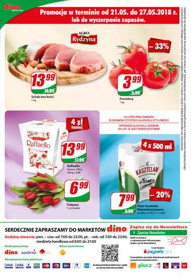 Gazetka promocyjna Dino, ważna od 23.05.2018 do 29.05.2018.