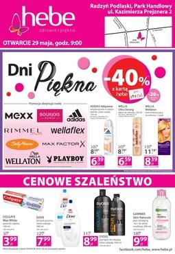 Gazetka promocyjna Hebe, ważna od 29.05.2018 do 02.06.2018.