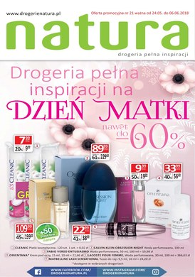 Gazetka promocyjna Drogerie Natura - Drogeria pełna inspiracji na Dzień Matki