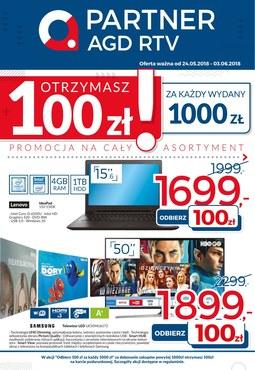 Gazetka promocyjna Partner AGD RTV , ważna od 24.05.2018 do 03.06.2018.