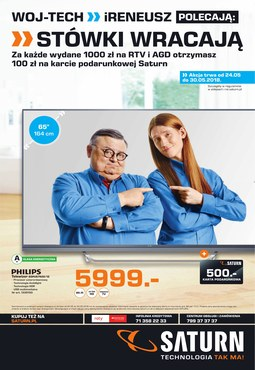 Gazetka promocyjna Saturn, ważna od 24.05.2018 do 30.05.2018.