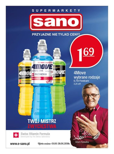 Gazetka promocyjna Sano, ważna od 01.06.2018 do 28.06.2018.