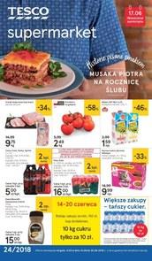 Gazetka promocyjna Tesco Supermarket, ważna od 14.06.2018 do 20.06.2018.