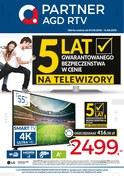 Gazetka promocyjna Partner AGD RTV  - 5 lat gwarancji na telewizory  - ważna do 14-06-2018