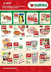 Gazetka promocyjna MALINKA Market, ważna od 07.06.2018 do 20.06.2018.