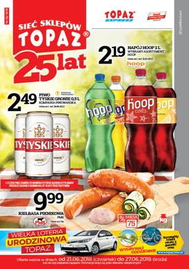 Gazetka promocyjna Topaz - Wielka loteria urodzinowa