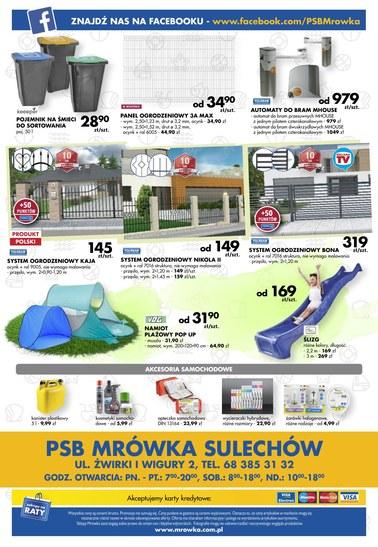 Gazetka promocyjna PSB Mrówka, ważna od 09.06.2018 do 24.06.2018.