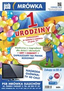 Gazetka promocyjna PSB Mrówka - 1 urodziny - Sulechów