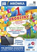 Gazetka promocyjna PSB Mrówka - 1 urodziny - Sulechów - ważna do 24-06-2018