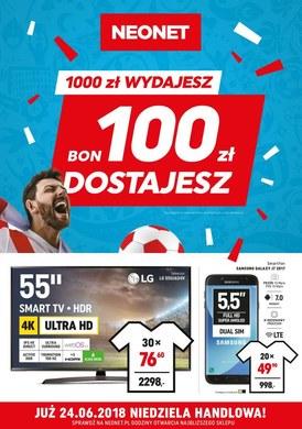 Gazetka promocyjna Neonet - 1000 zł wydajesz, 100 zł dostajesz
