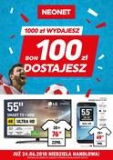 Gazetka promocyjna Neonet - 1000 zł wydajesz, 100 zł dostajesz - ważna do 27-06-2018