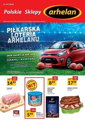 Gazetka promocyjna Arhelan - Piłkarska loteria Arhelanu