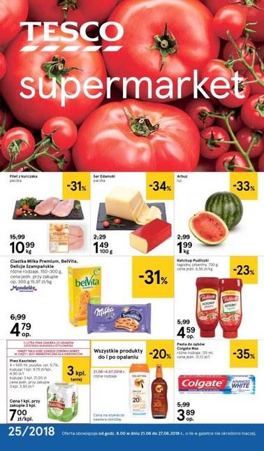 Gazetka promocyjna Tesco Supermarket, ważna od 21.06.2018 do 27.06.2018.