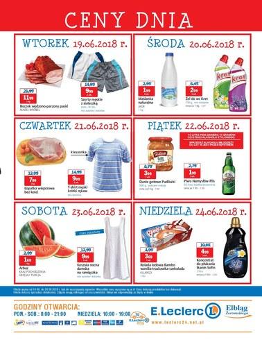 Gazetka promocyjna E.Leclerc, ważna od 19.06.2018 do 24.06.2018.
