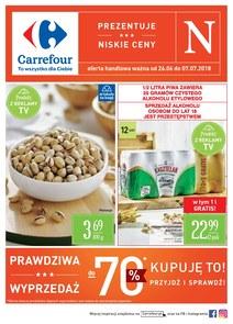 Gazetka promocyjna Carrefour, ważna od 26.06.2018 do 07.07.2018.