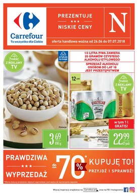 Gazetka promocyjna Carrefour - Prawdziwa wyprzedaż
