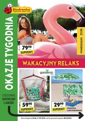 Gazetka promocyjna Biedronka - Wakacyjny relaks