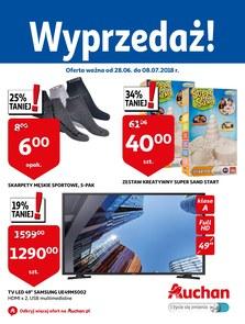 Gazetka promocyjna Auchan, ważna od 28.06.2018 do 08.07.2018.