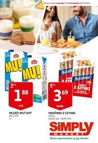 Gazetka promocyjna Simply Market, ważna od 27.06.2018 do 03.07.2018.