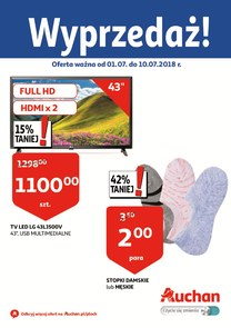 Gazetka promocyjna Auchan, ważna od 01.07.2018 do 10.07.2018.