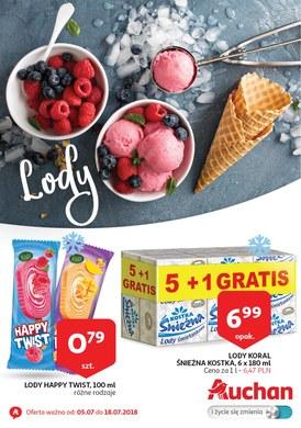 Gazetka promocyjna Auchan - Lody