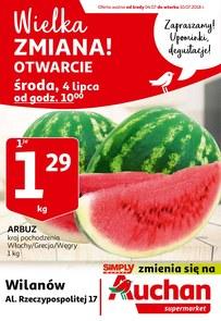 Gazetka promocyjna Auchan, ważna od 04.07.2018 do 10.07.2018.