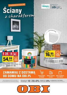 Gazetka promocyjna OBI - Ściany z charakterem