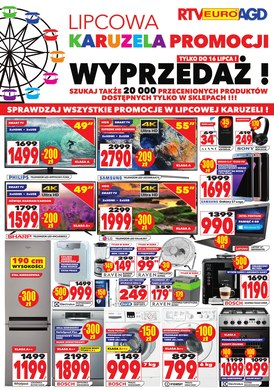 Gazetka promocyjna RTV EURO AGD - Lipcowa karuzela promocji