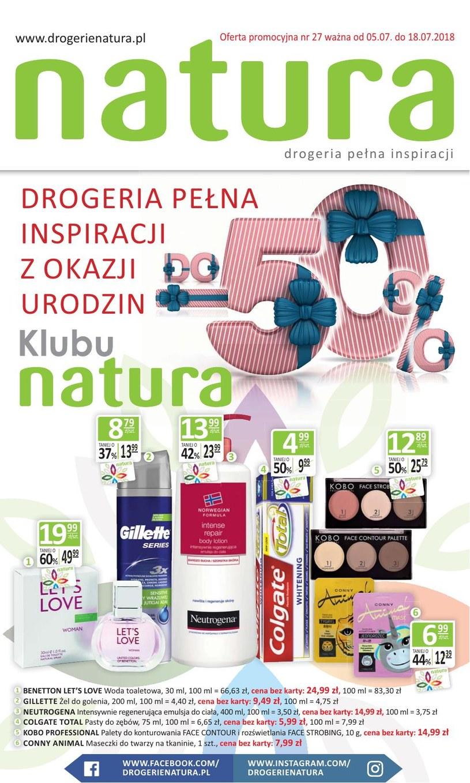 Drogerie Natura: 1 gazetka