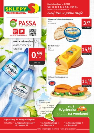 Gazetka promocyjna Sklepy S, ważna od 05.07.2018 do 22.07.2018.