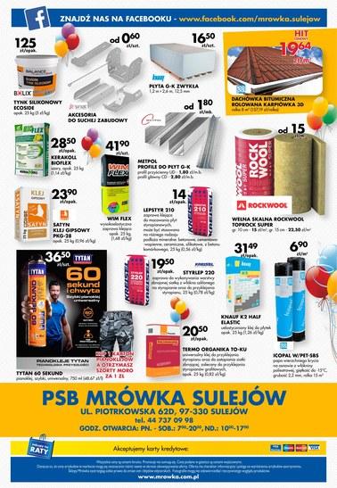 Gazetka promocyjna PSB Mrówka, ważna od 06.07.2018 do 29.07.2018.