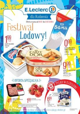 Gazetka promocyjna E.Leclerc - Festiwal lodowy! - Radom