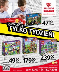 Gazetka promocyjna Selgros Cash&Carry, ważna od 12.07.2018 do 18.07.2018.