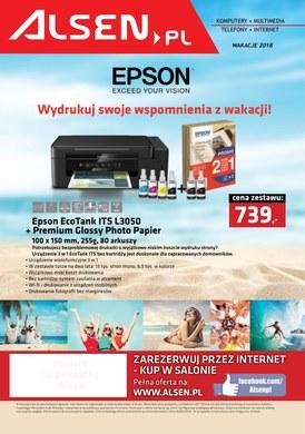 Gazetka promocyjna Alsen - Wydrukuj swoje wspomnienia z wakacji!