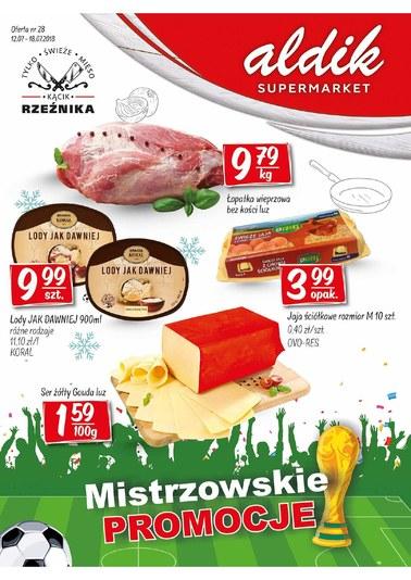 Gazetka promocyjna Aldik, ważna od 12.07.2018 do 18.07.2018.
