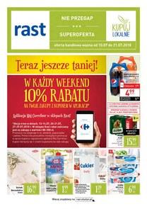 Gazetka promocyjna Rast, ważna od 10.07.2018 do 21.07.2018.