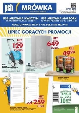 Gazetka promocyjna PSB Mrówka - Lipiec gorących promocji - Kwidzyn