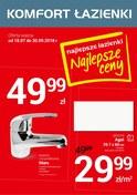 Gazetka promocyjna Komfort Łazienki - Najlepsze łazienki, najlepsze ceny - ważna do 30-09-2018