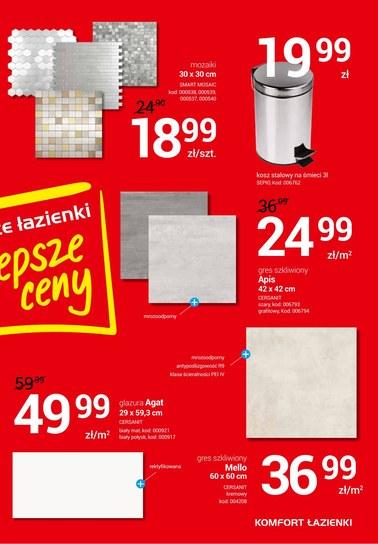 Gazetka promocyjna Komfort Łazienki, ważna od 18.07.2018 do 30.07.2018.
