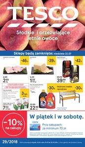 Gazetka promocyjna Tesco Hipermarket, ważna od 19.07.2018 do 25.07.2018.