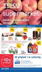 Gazetka promocyjna Tesco Supermarket, ważna od 19.07.2018 do 25.07.2018.