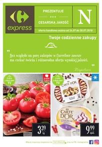 Gazetka promocyjna Carrefour Express, ważna od 24.07.2018 do 30.07.2018.