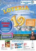 Gazetka promocyjna E.Leclerc - Wielka loteria urodzinowa -Radom - ważna do 11-08-2018