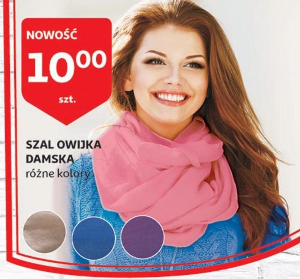 Archiwum   Szal owijka damska różne kolory Auchan