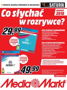 Gazetka promocyjna Saturn, ważna od 01.08.2018 do 31.08.2018.
