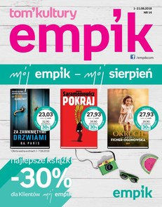 Gazetka promocyjna Empik.com, ważna od 01.08.2018 do 21.08.2018.
